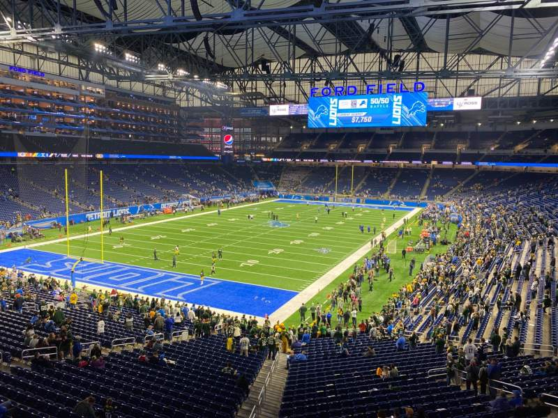 Seating view for Ford Field Section 222 Row 1 Seat 2