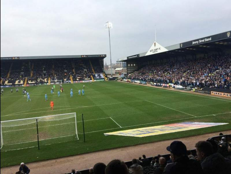 Seating view for Meadow Lane Section FC Row T Seat 068