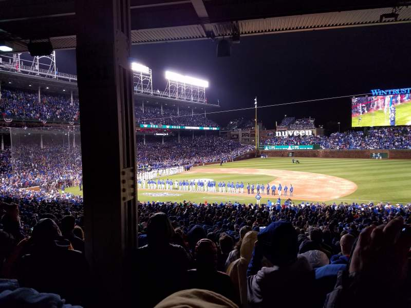 Seating view for Wrigley Field Section 231 Row 10 Seat 4