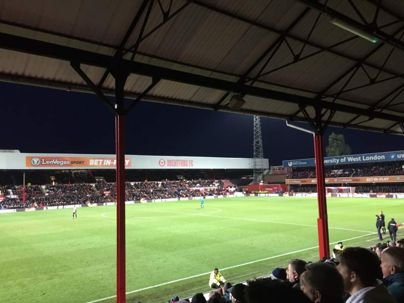Seating view for Griffin Park Section N305 Row R