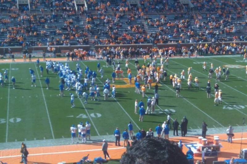 Seating view for Neyland Stadium Section E Row 47 Seat 2