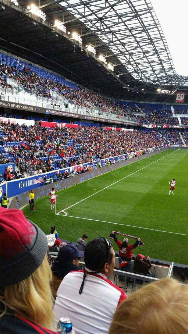 Seating view for Red Bull Arena Section 120 Row 15