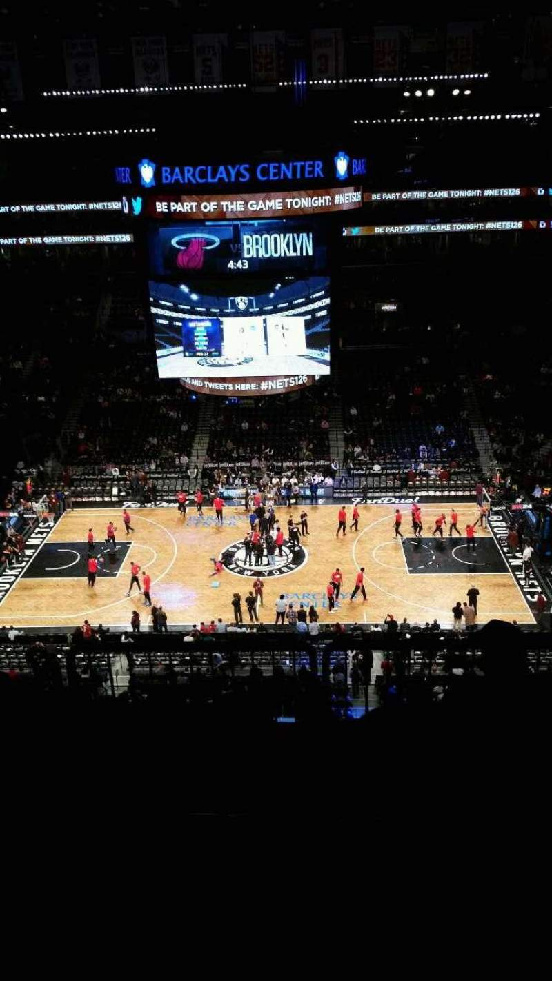 Seating view for Barclays Center Section 223 Row 6 Seat 11