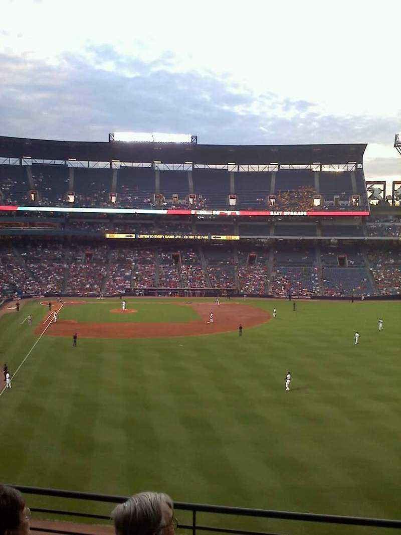 Seating view for Turner Field Section 333 Row 4 Seat 11