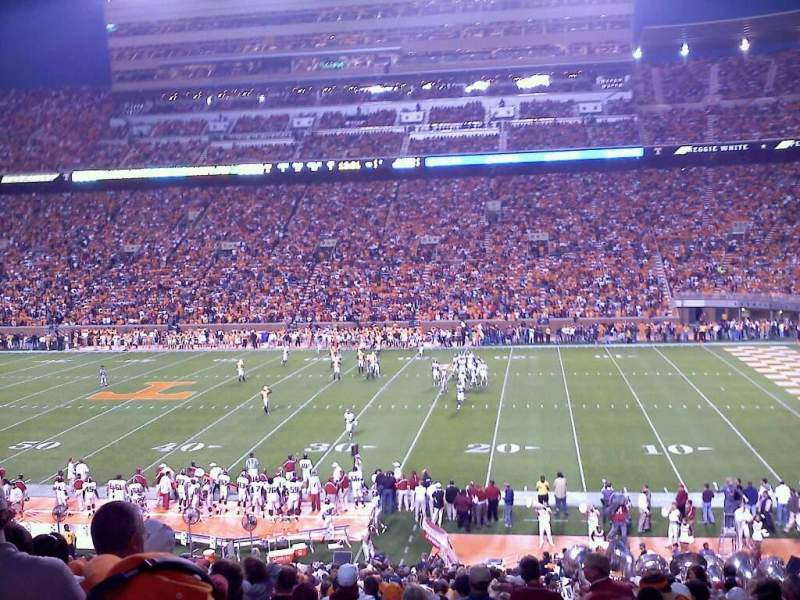 Seating view for Neyland Stadium Section B Row 39 Seat 2