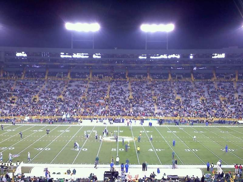 Seating view for Lambeau Field Section 120 Row 55 Seat 15