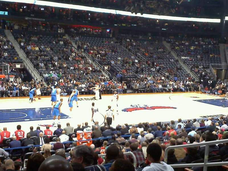 philips arena  section 117  home of atlanta thrashers  atlanta hawks  atlanta dream