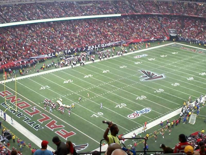 Seating view for Georgia Dome Section 301 Row 17 Seat 20