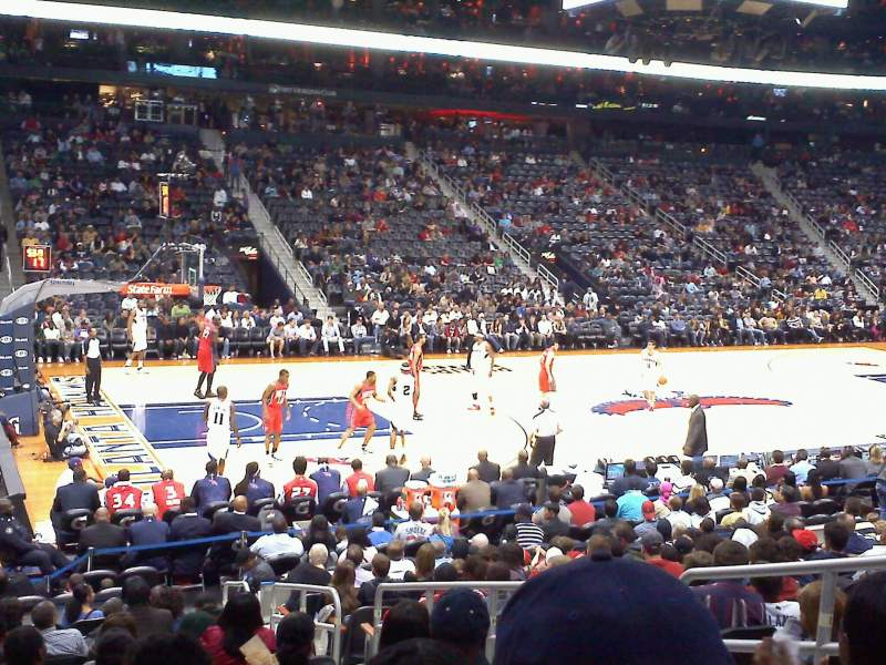 Seating view for Philips Arena Section 117 Row Q Seat 5