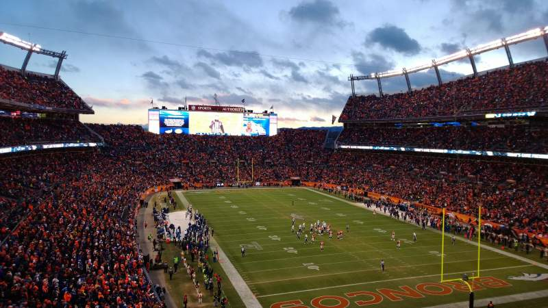 Seating view for Sports Authority Field at Mile High Section 326 Row 8 Seat 13