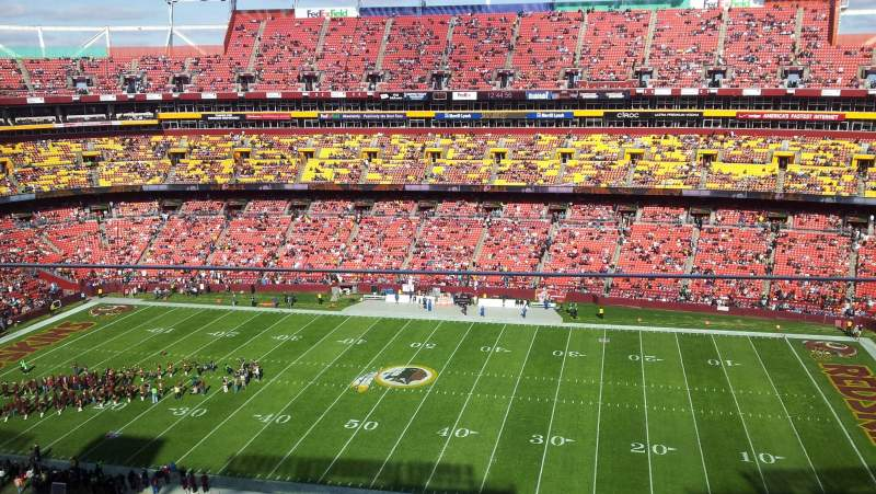 Seating view for FedEx Field Section 453 Row 1 Seat 5