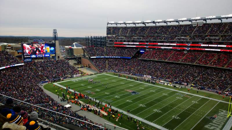 Seating view for Gillette Stadium Section 326 Row 2 Seat 13