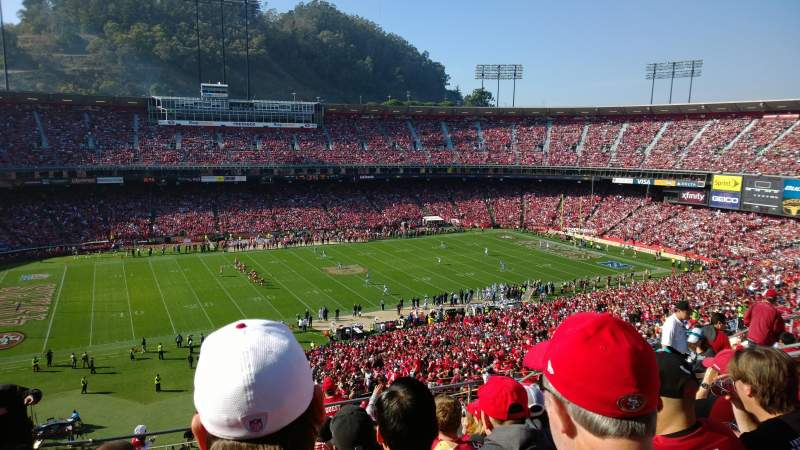 Seating view for Candlestick Park Section UR33 Row 8 Seat 11