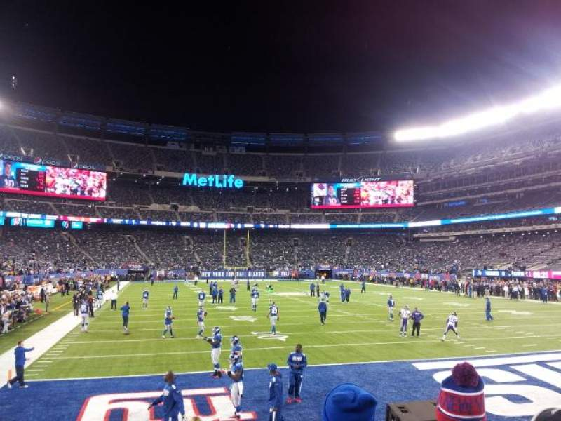 Seating view for MetLife Stadium Section 129 Row 6 Seat 3
