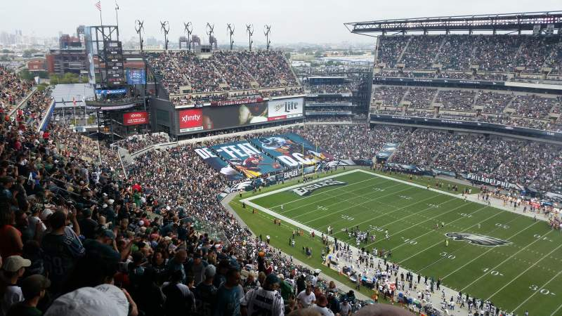 Seating view for Lincoln Financial Field Section 204 Row 24 Seat 16