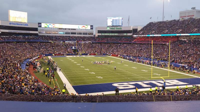 Seating view for New Era Field Section 202 Row 3 Seat 10