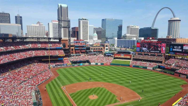 Seating view for Busch Stadium Section 448 Row 11 Seat 17