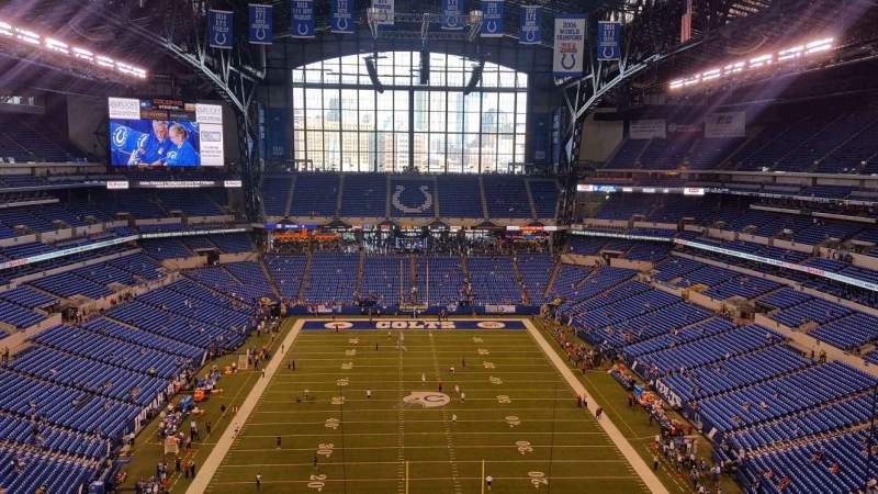 Seating view for Lucas Oil Stadium Section 627 Row 4 Seat 6
