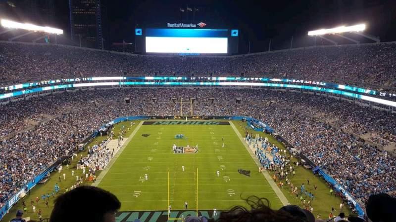Bank of America Stadium, section: 501, row: 18, seat: 14