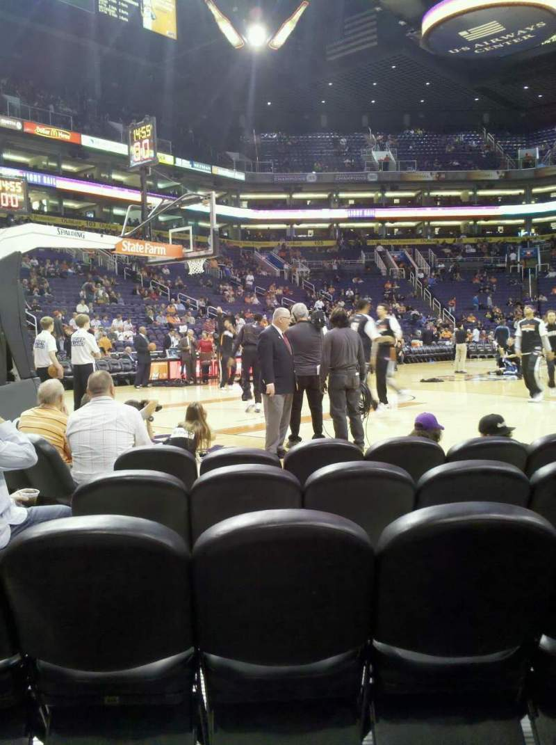 Seating view for PHX Arena Section 120 Row 5