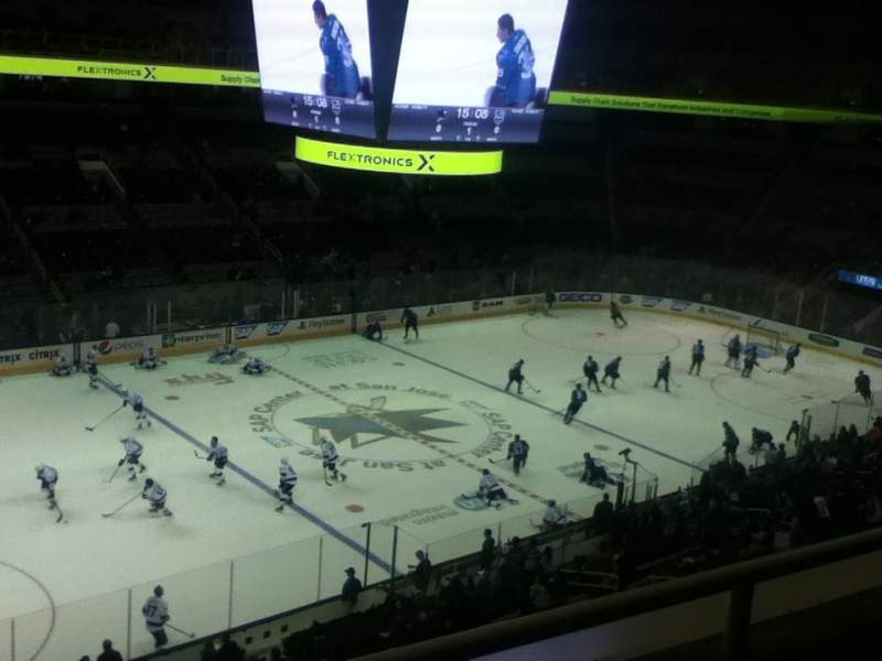 Seating view for SAP Center at San Jose Section 203 Row 2 Seat 9-10