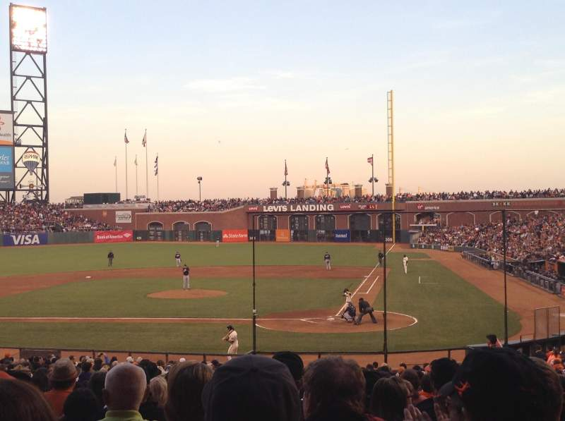 Seating view for AT&T Park Section 119 Row 31 Seat 7-8