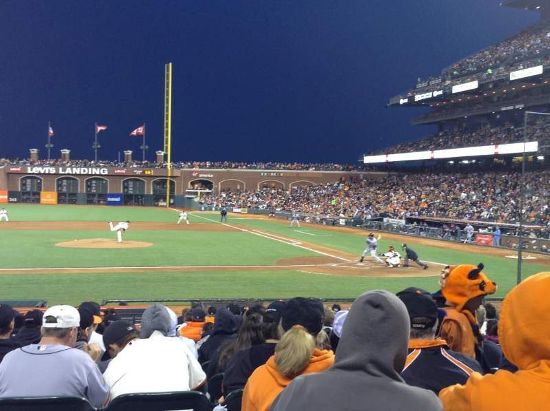 Seating view for AT&T Park Section 122 Row M Seat 1-2