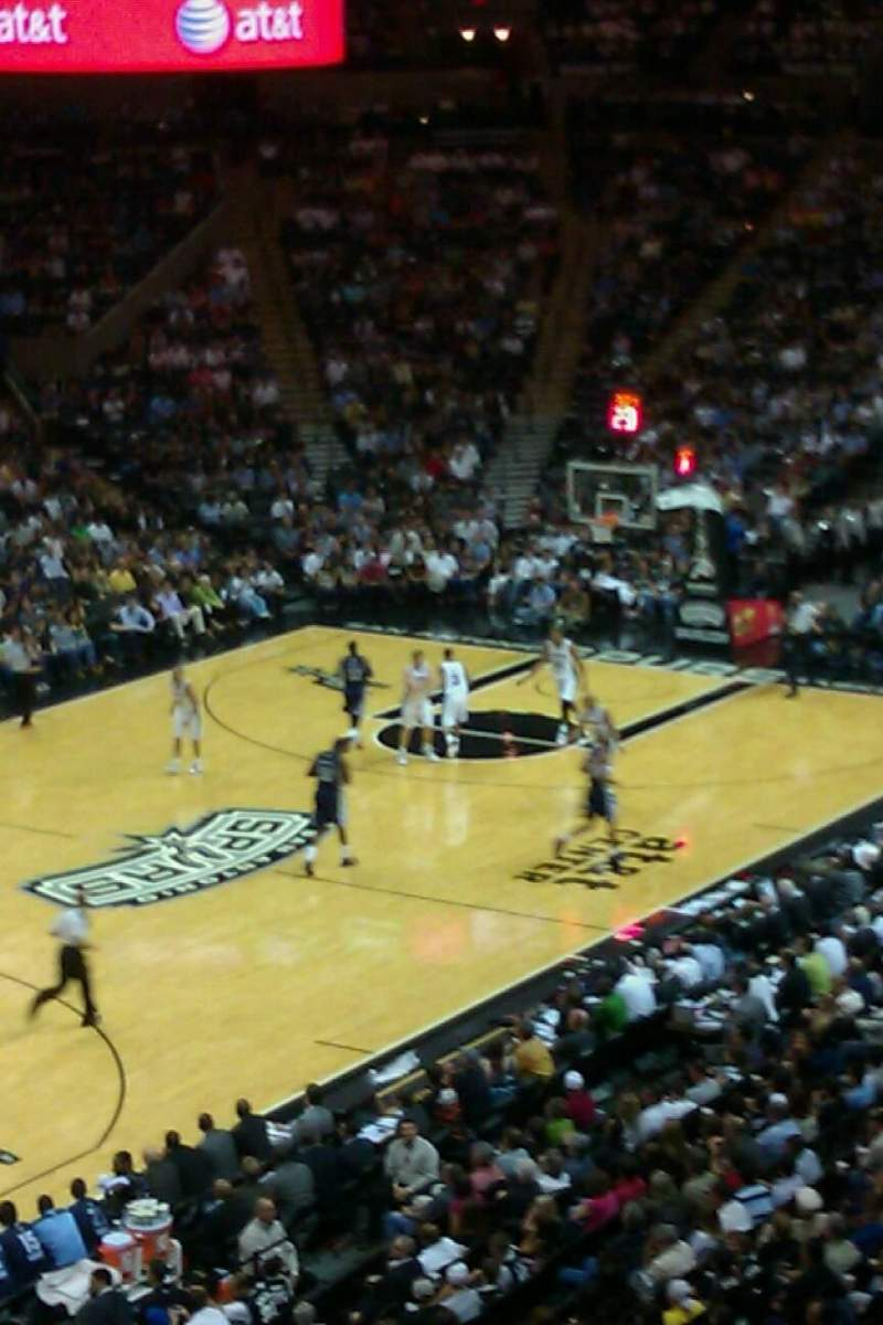 Seating view for AT&T Center Section Super Box Row 5 Seat 6