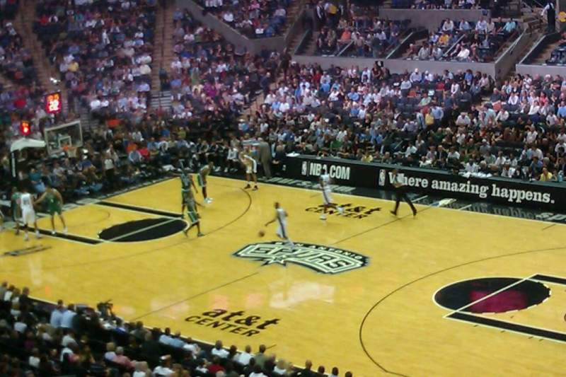 Seating view for AT&T Center Section SB2A Row A Seat 3