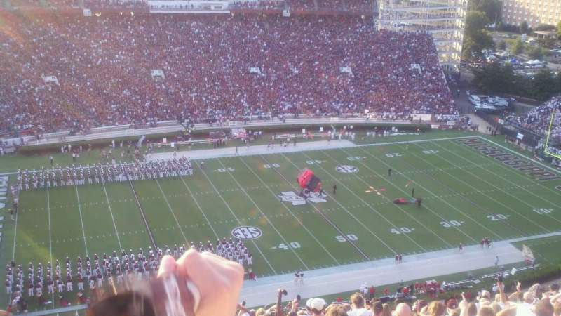 Seating view for Davis Wade Stadium Section 703 Row 15 Seat 30