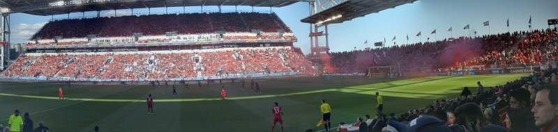 Seating view for BMO Field Section 122 Row 7 Seat 28