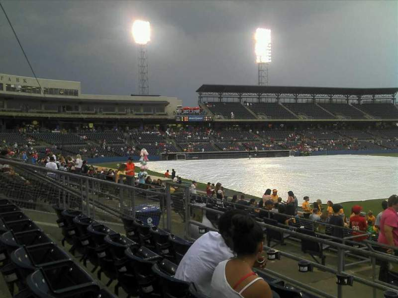 Seating view for Harbor Park Section 216 Row R Seat 12