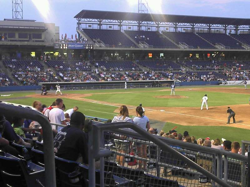 Seating view for Harbor Park Section 216 Row R Seat 2