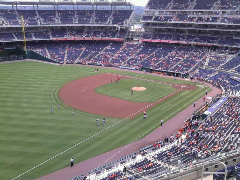 Seating view for Nationals Park Section 303 Row k Seat 3