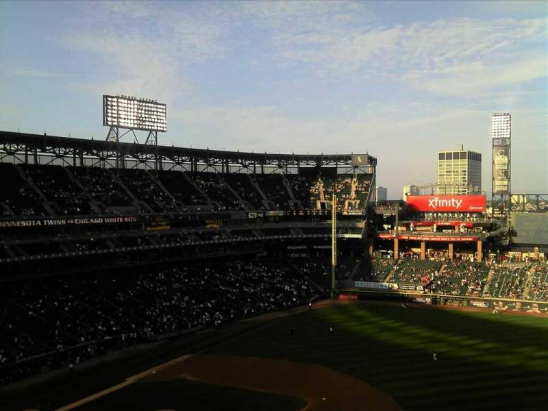 Seating view for Guaranteed Rate Field Section 520 Row 5 Seat 3