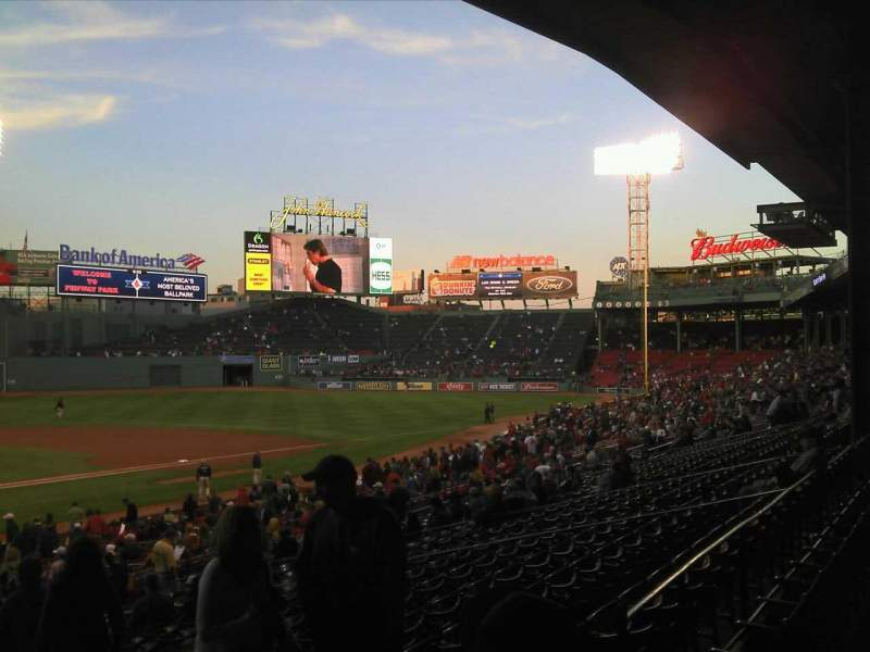 Seating view for Fenway Park Section Grandstand 18 Row 3 Seat 5