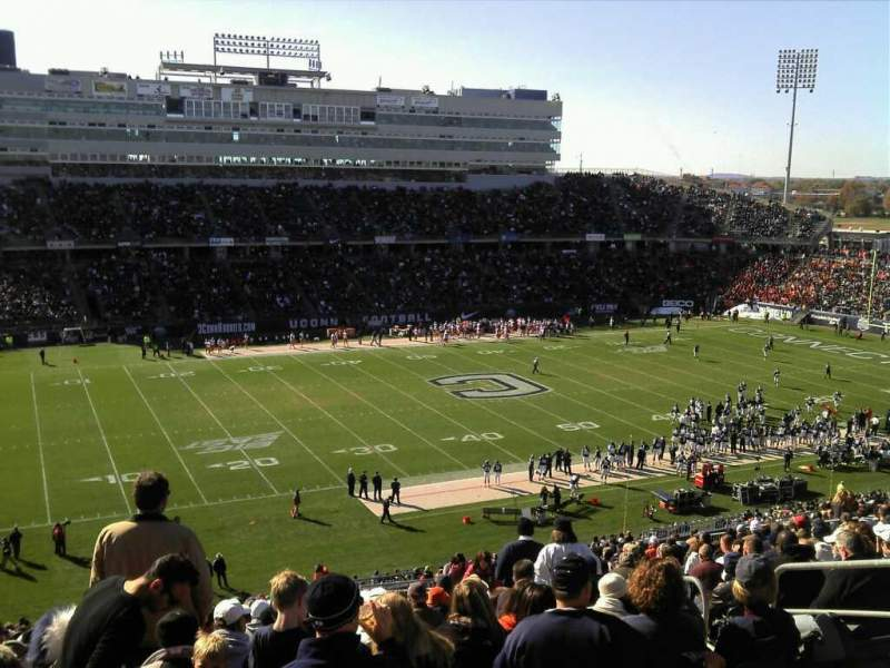 Seating view for Rentschler Field Section 220 Row 24 Seat 8