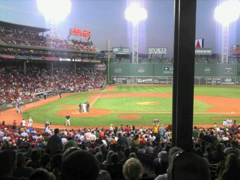 Seating view for Fenway Park Section Grandstand 17 Row 9 Seat 3