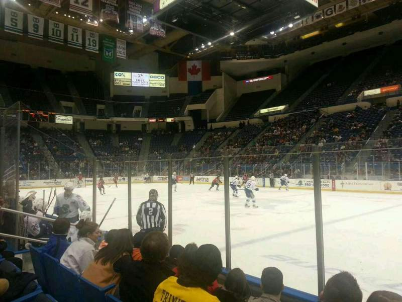 Seating view for XL Center Section 102 Row F Seat 6