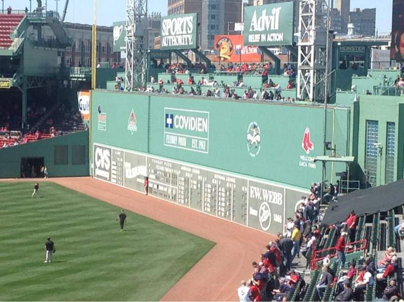 Seating view for Fenway Park Section Bleacher 42 Row 50 Seat 13