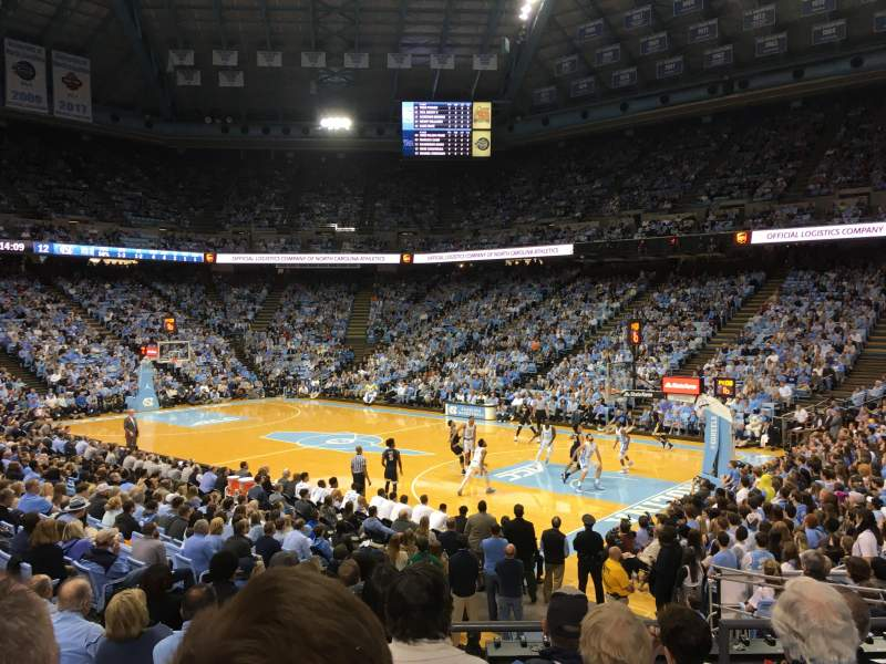 Seating view for Dean Dome Section 113 Row Q Seat 2