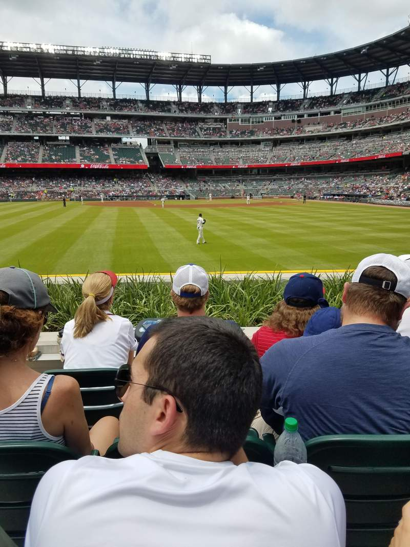 Seating view for SunTrust Park Section 147 Row 4 Seat 11