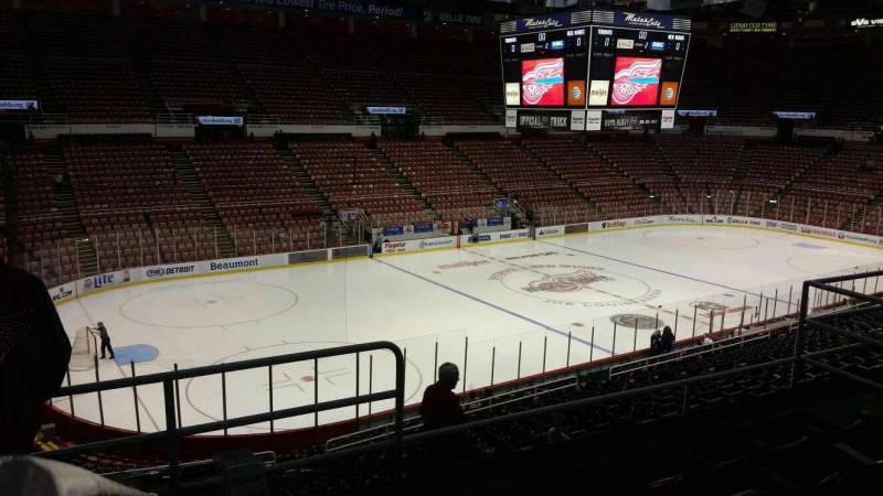 Seating view for Joe Louis Arena Section 211B Row 5 Seat 8