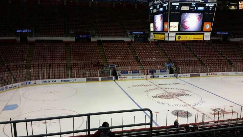 Seating view for Joe Louis Arena Section 210 Row 5 Seat 1