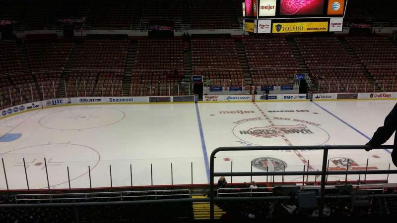 Seating view for Joe Louis Arena Section 209 Row 5 Seat 1