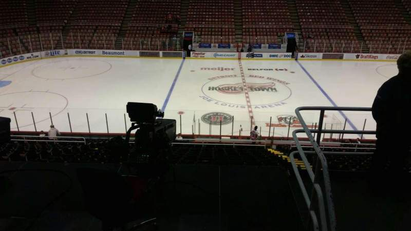 Seating view for Joe Louis Arena Section 208 Row 5 Seat 5