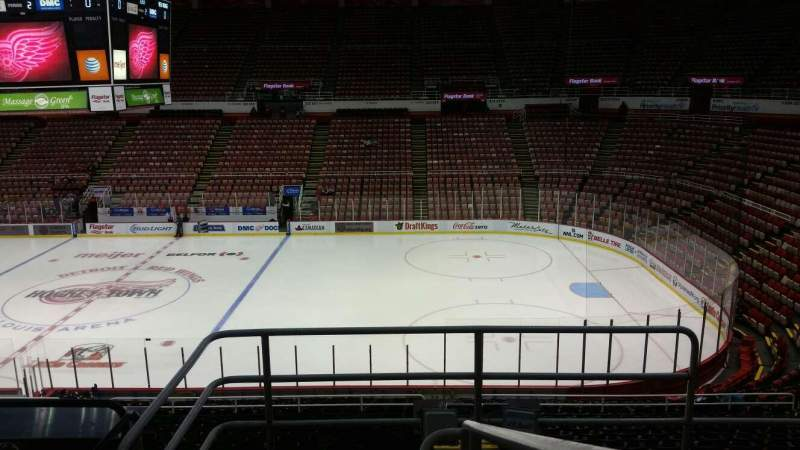 Seating view for Joe Louis Arena Section 206 Row 5 Seat 1