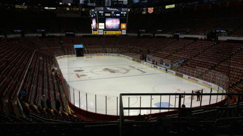 Seating view for Joe Louis Arena Section 202B Row 5 Seat 12