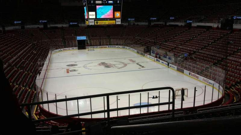 Seating view for Joe Louis Arena Section 202A Row 5 Seat 2