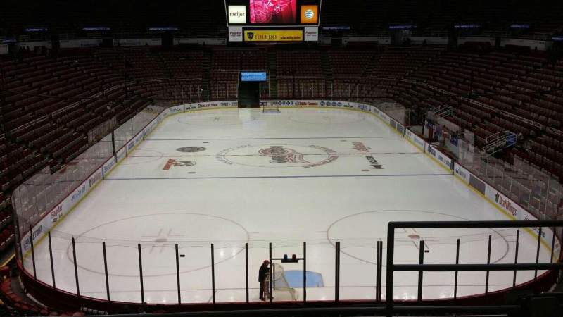 Seating view for Joe Louis Arena Section 201 Row 5 Seat 2